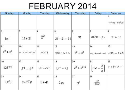 Calendar Math Calendar Math February 2014 With Num3ers