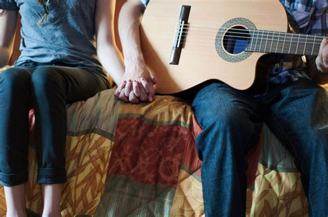 wallpaper guitar couple couples cute guitar hipster holding hands image