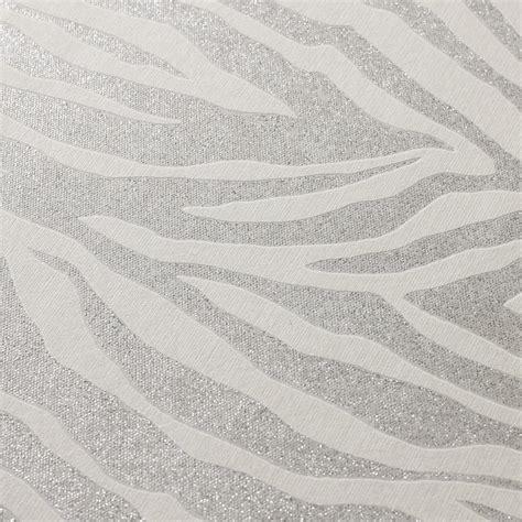 Glitter Wallpaper Graham And Brown   graham brown wallpaper zebra silver glitter graham