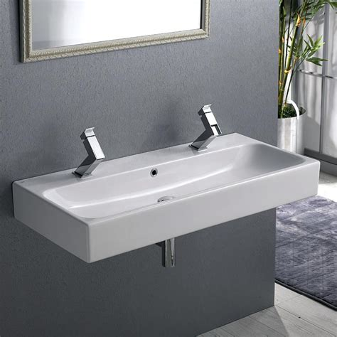 narrow rectangular bathroom sink narrow trough sink meetly co
