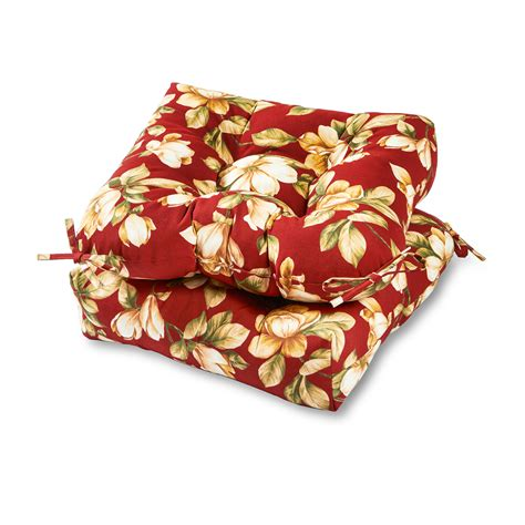 Patio Chair Cushions Floral Greendale Home Fashions Set Of Two 20 Quot Outdoor Chair