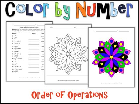 Color By Number Worksheet Answers
