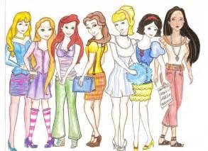 My modern disney princesses by kt grace on deviantart
