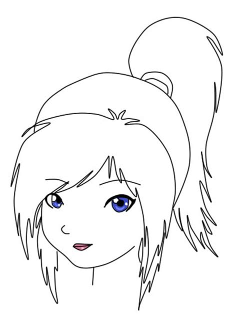 girl head coloring page free coloring pages