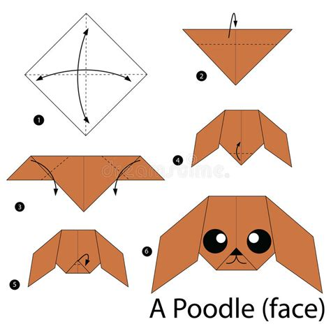 Poodle Origami - step by step how to make origami a poodle