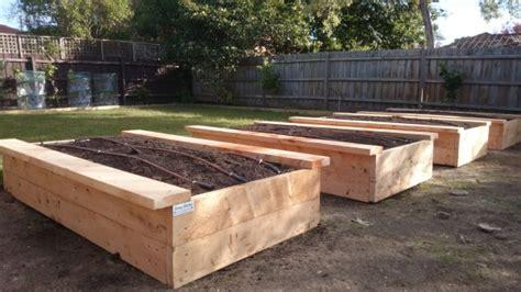 sustainable cypress sleepers  garden beds