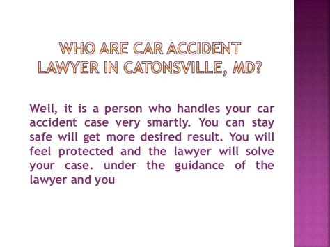 Car Lawyer In 2 by Who Are Car Lawyer In Catonsville Md