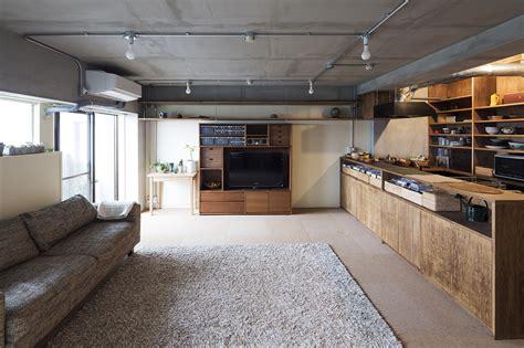 Exposed Brick a dark industrial chic apartment from tokyo by yuichi yoshida
