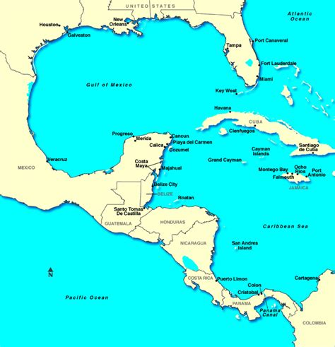 map of western mexico western caribbean cruises western caribbean cruise