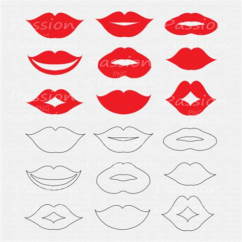 printable mouth templates best photos of lip props free printables free printable