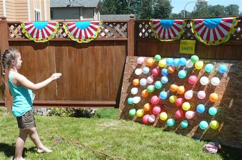 madelyn turns 9 birthday party ideas backyard carnival