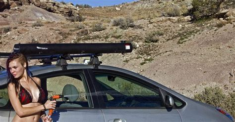 Road Shower by Stay Clean On The Go Road Shower Mounts To Your Car And