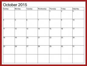 Calendar Template 2015 by October 2015 Calendar Template 2017 Printable Calendar