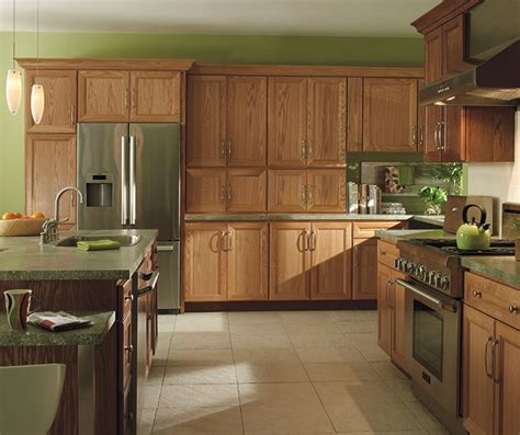 natural oak kitchen cabinets natural oak cabinets with dark kitchen island homecrest