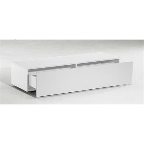 meuble bas tiroirs meuble tv bas delta 1 tiroir blanc mat 120cm achat