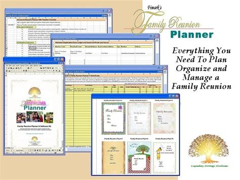 free family reunion planner templates fimark s family reunion planner family reunion event