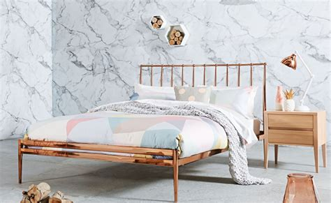 Copper Bed Frame Want This New Season Pieces For The Lounge And Bedroom Domayne Style Insider