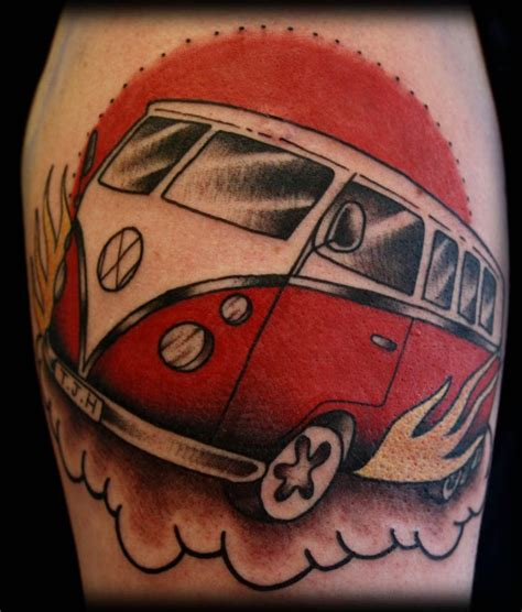 vw bus tattoo vw by inspirationstattoos on deviantart