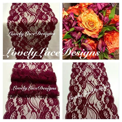 burgundy lace table runner fall burgundy wine lace table runner 3ft 10ft x 7 quot wide