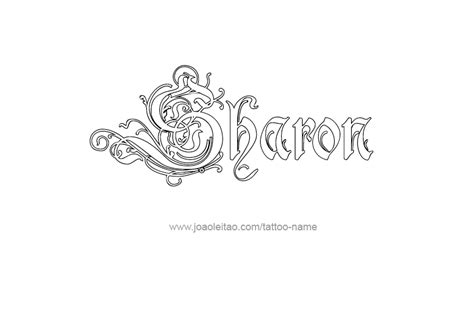 sharon tattoo designs name designs