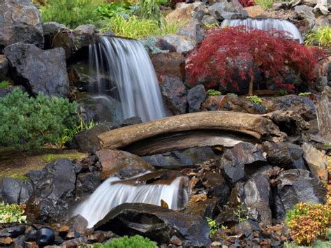 waterfall designs for backyards backyard waterfalls and landscaping ideas hgtv