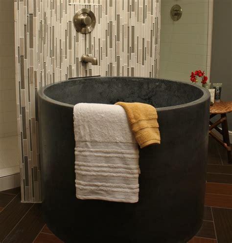 concrete bathtubs concrete round tub featured on i hate my bath modern