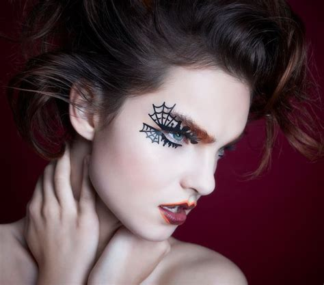 halloween face tattoos spooky temporary eye tattoos lace