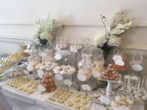 wedding dessert table wedding dessert table in white candy buffets l sweetie