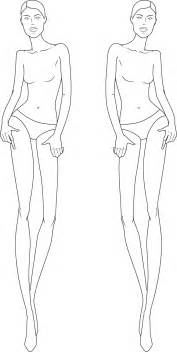 Free Clothing Design Templates Full Figure Croquis Illustration Fashion Figures