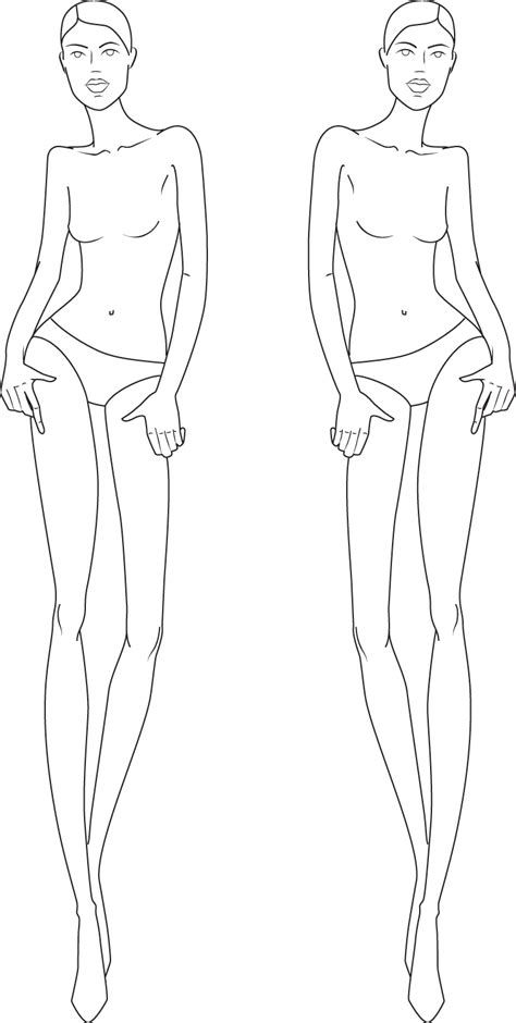 figure templates for fashion illustration figure croquis illustration fashion figures