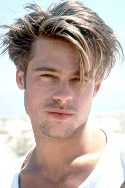 mens hairstyles in 1990 1990 brad pitt messy haircut latest men hairstyles
