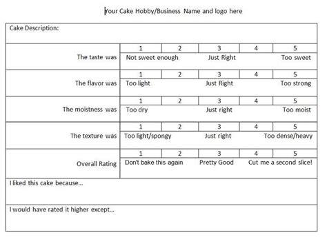 food judging score card template cake tasting score sheet slumber