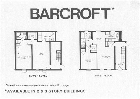 barcroft 1 model floor plan fairlington historic district