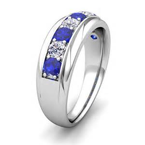 mens sapphire wedding rings my and sapphire mens wedding band ring in 14k