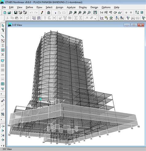 tutorial gambar gravity desain gedung bertingkat dengan menggunakan etabs dan sap