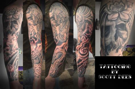 snake sleeve tattoo tattoos by dees asian koi japanese