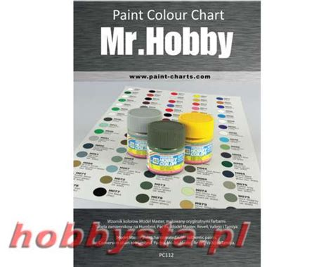 paint colour chart gunze mr hobby 12 mm pjb pc112