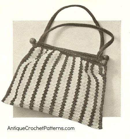 crochet pattern for knitting bag crocheted knitting bag free vintage crochet pattern