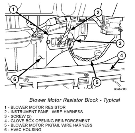 how do you replace a blower motor resistor on a 2003 chevy silverado 2004 dodge grand caravan front blower is not working put meter on two plugs coming out of