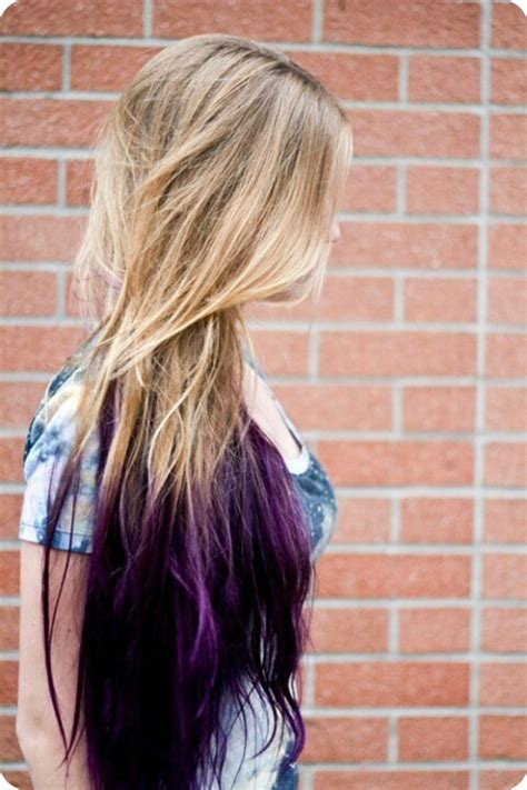 dip dye hairstyles brown and blonde easy and best 10 dip dye ombre color hair ideas without