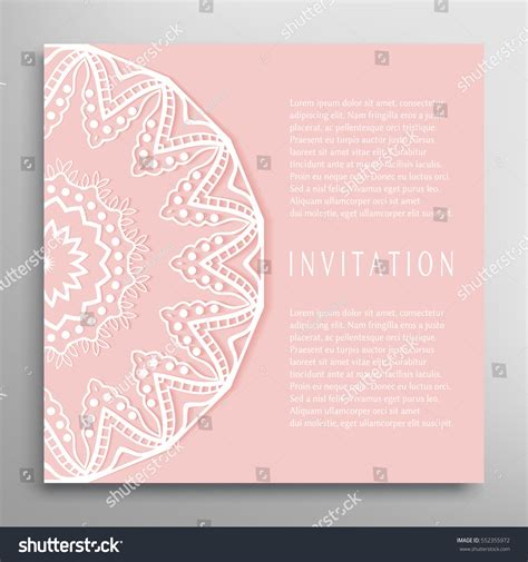stationery stock card template invitation card template mandala border element stock