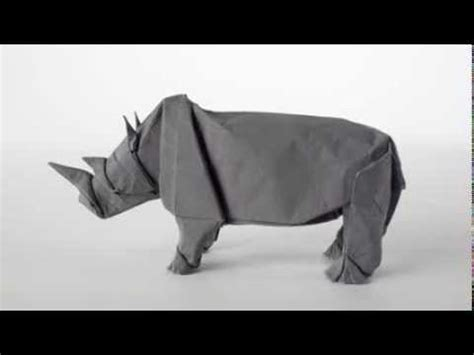 How To Make A Rhino Out Of Paper - sipho mabona origami rhino unfolding