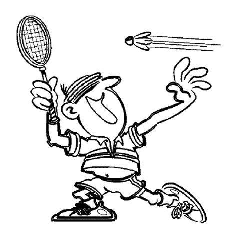 Coloriage Joueur De Badminton