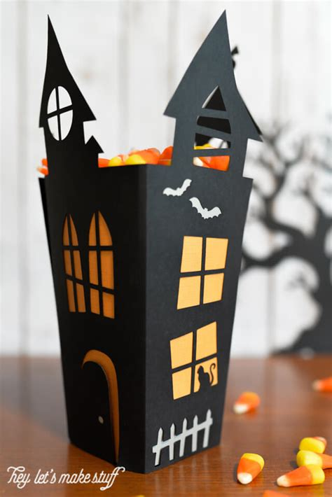 How To Make A Paper Haunted House - haunted house cut paper box hey let s make stuff