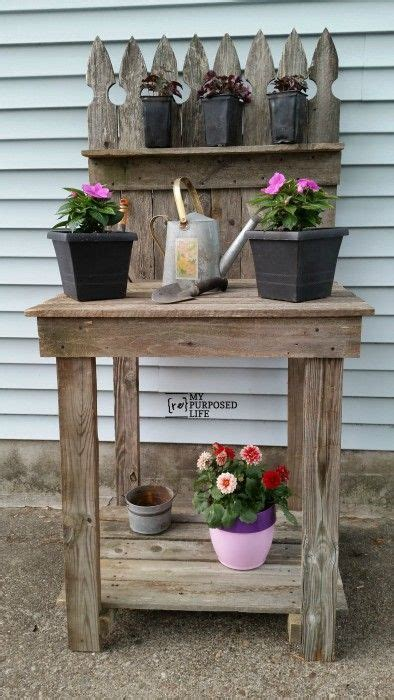 how to make your own bench how to make your own reclaimed wood potting bench out of