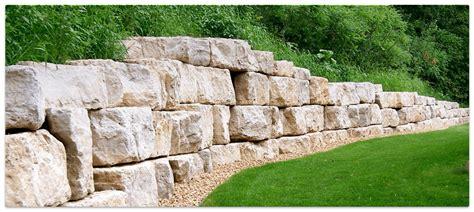 boulder retaining wall boulder wall design boulder