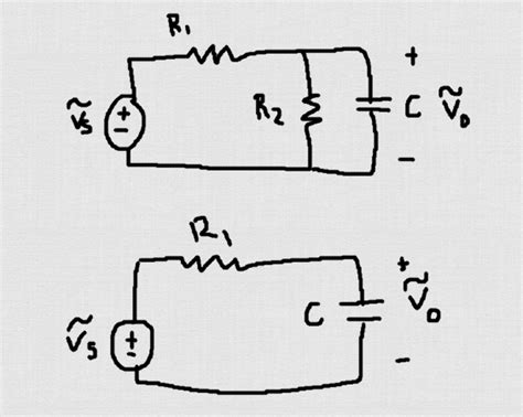 transfer function of capacitor and resistor in parallel capacitor rc filter circuit question electrical engineering stack exchange