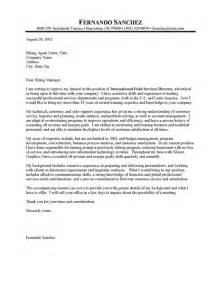 international business cover letter international