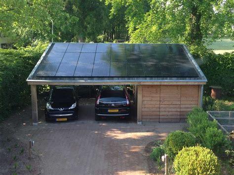 schuur zonnepanelen peter van woerden architect carport en schuur met