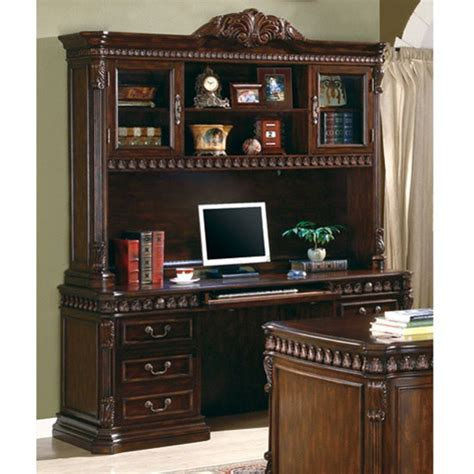 traditional home office computer desk  hutch  rich